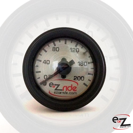 EZ Air Ride Brushed Metal 200 PSI Dual Needle Gauge